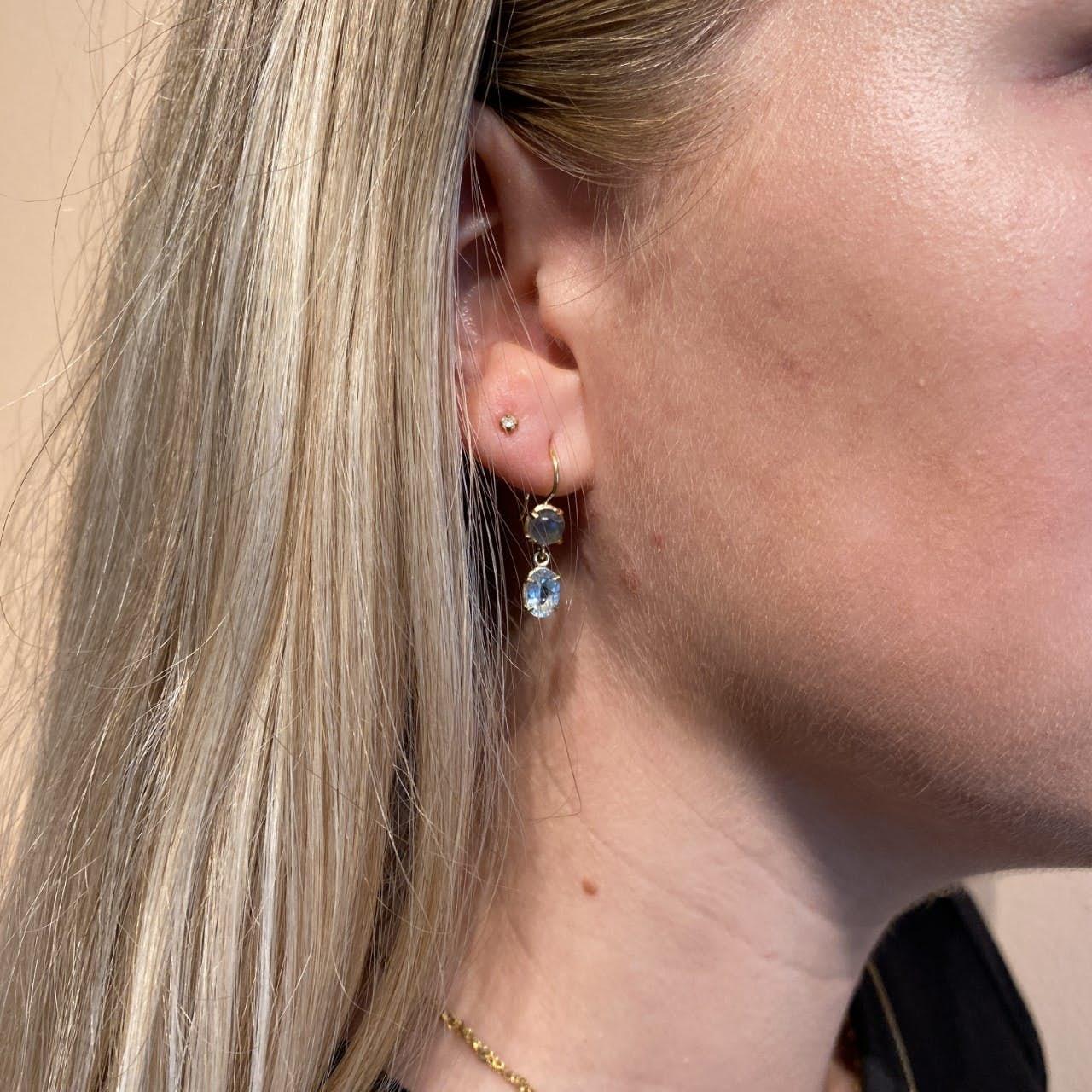 Gem Candy Earrings Labradorit från Carré i Förgyllt-Silver Sterling 925