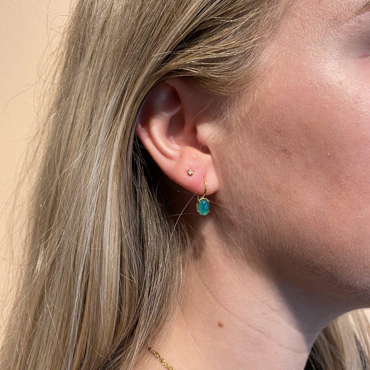 Gem Candy Earrings Confidence von Carré in Vergoldet-Silber Sterling 925|