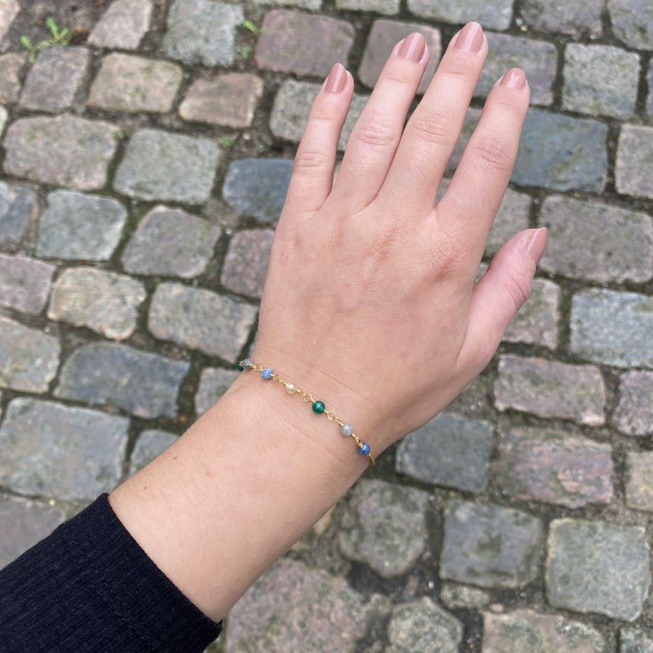 Gem Candy Bracelet Confidence von Carré in Vergoldet-Silber Sterling 925|, , ,