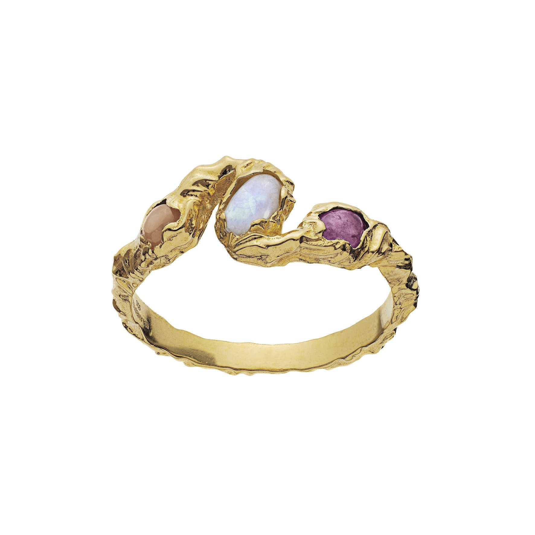 Baila Ring fra Maanesten i Forgyldt-Sølv Sterling 925