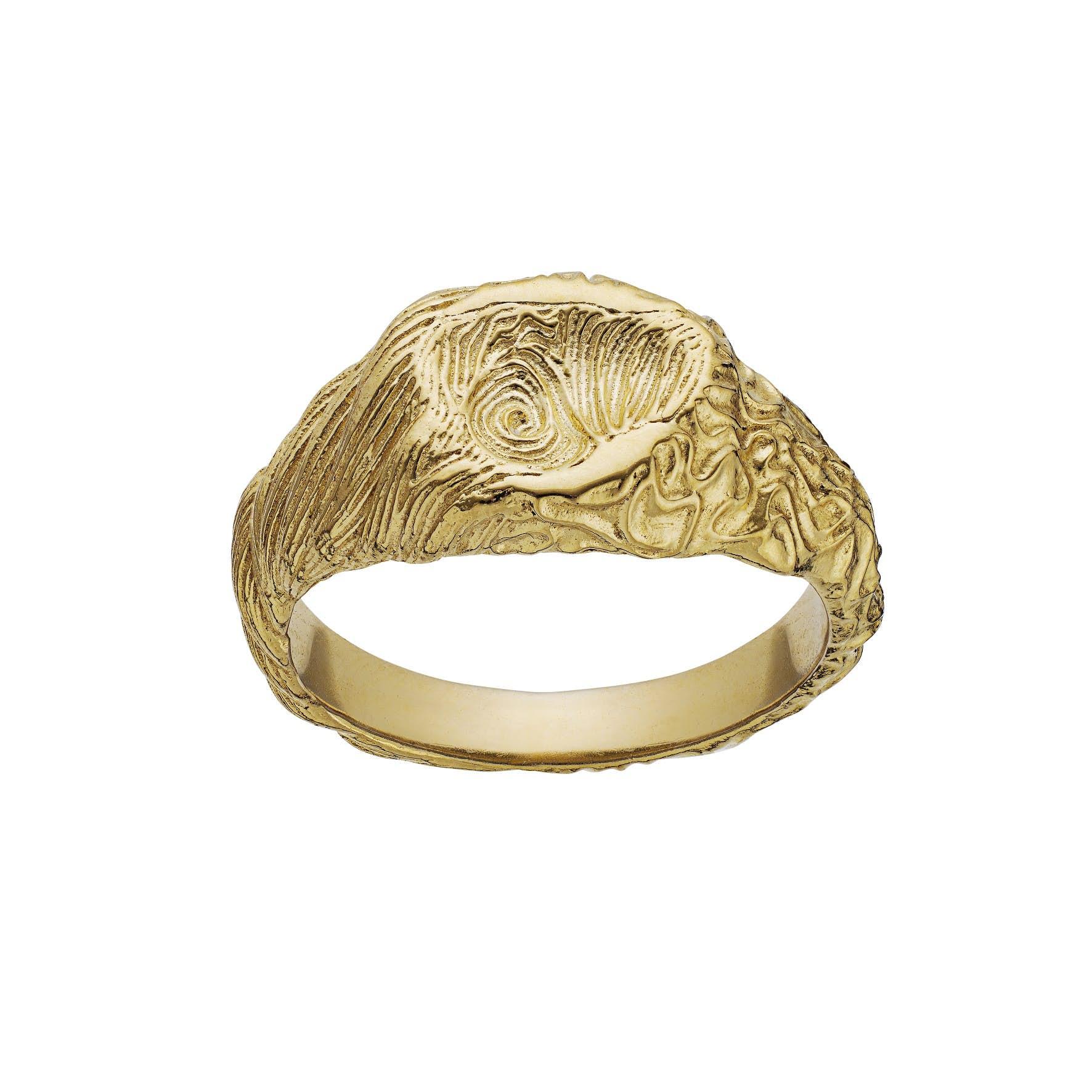 Gigi Ring fra Maanesten i Forgyldt-Sølv Sterling 925
