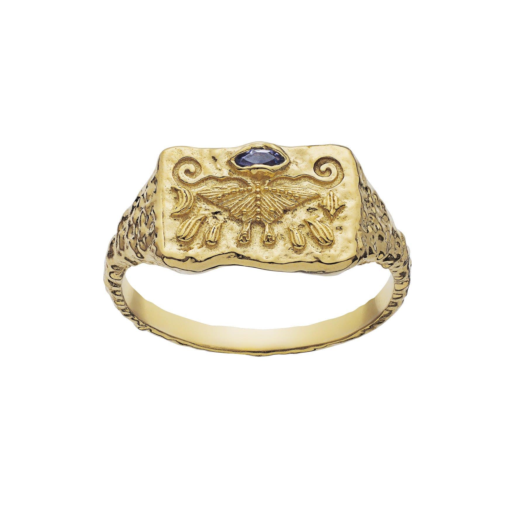Gry Ring von Maanesten in Vergoldet-Silber Sterling 925