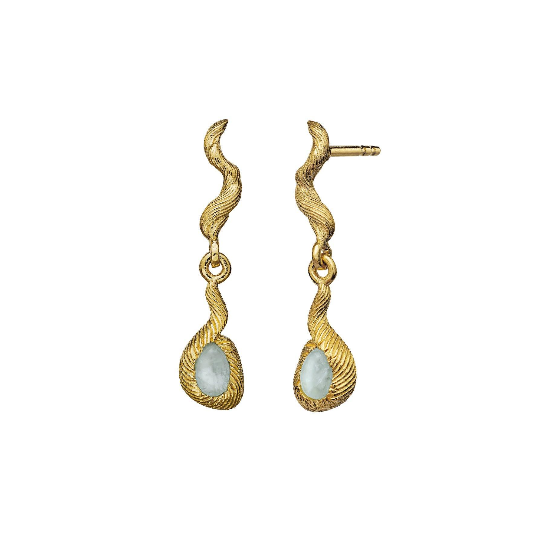 Nico Earrings von Maanesten in Vergoldet-Silber Sterling 925