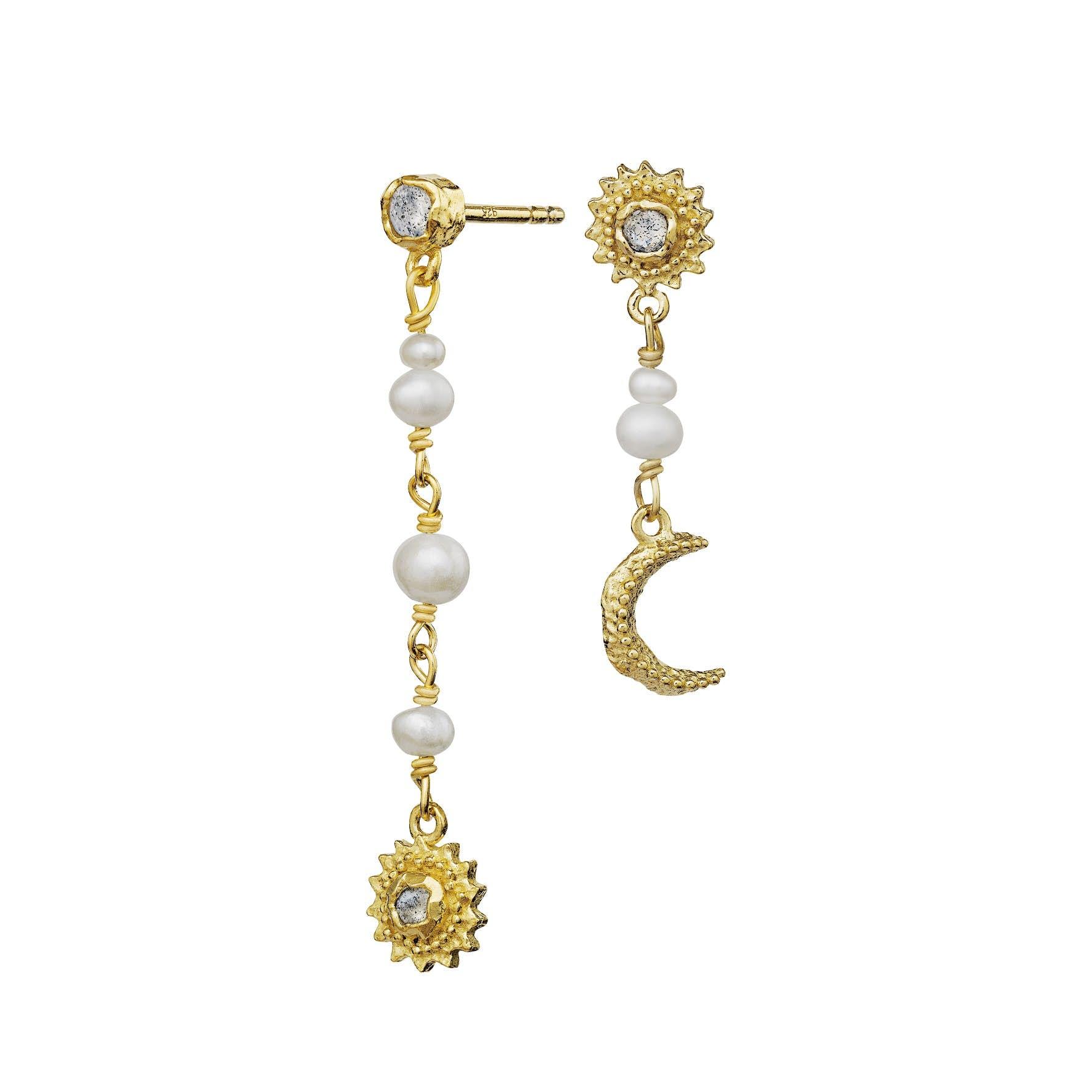 Sunniva Earrings von Maanesten in Vergoldet-Silber Sterling 925