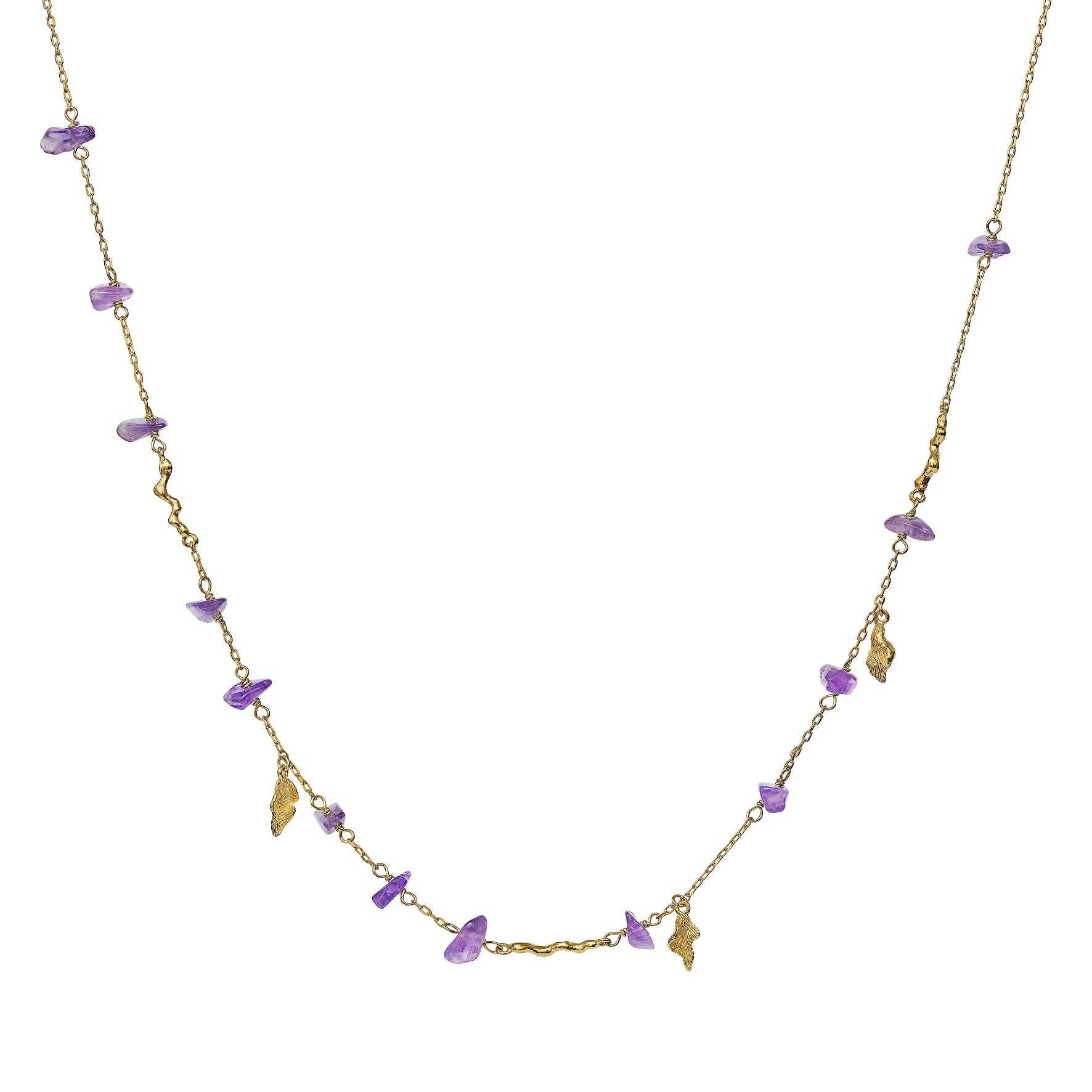 Azzurra Necklace fra Maanesten i Forgylt-Sølv Sterling 925