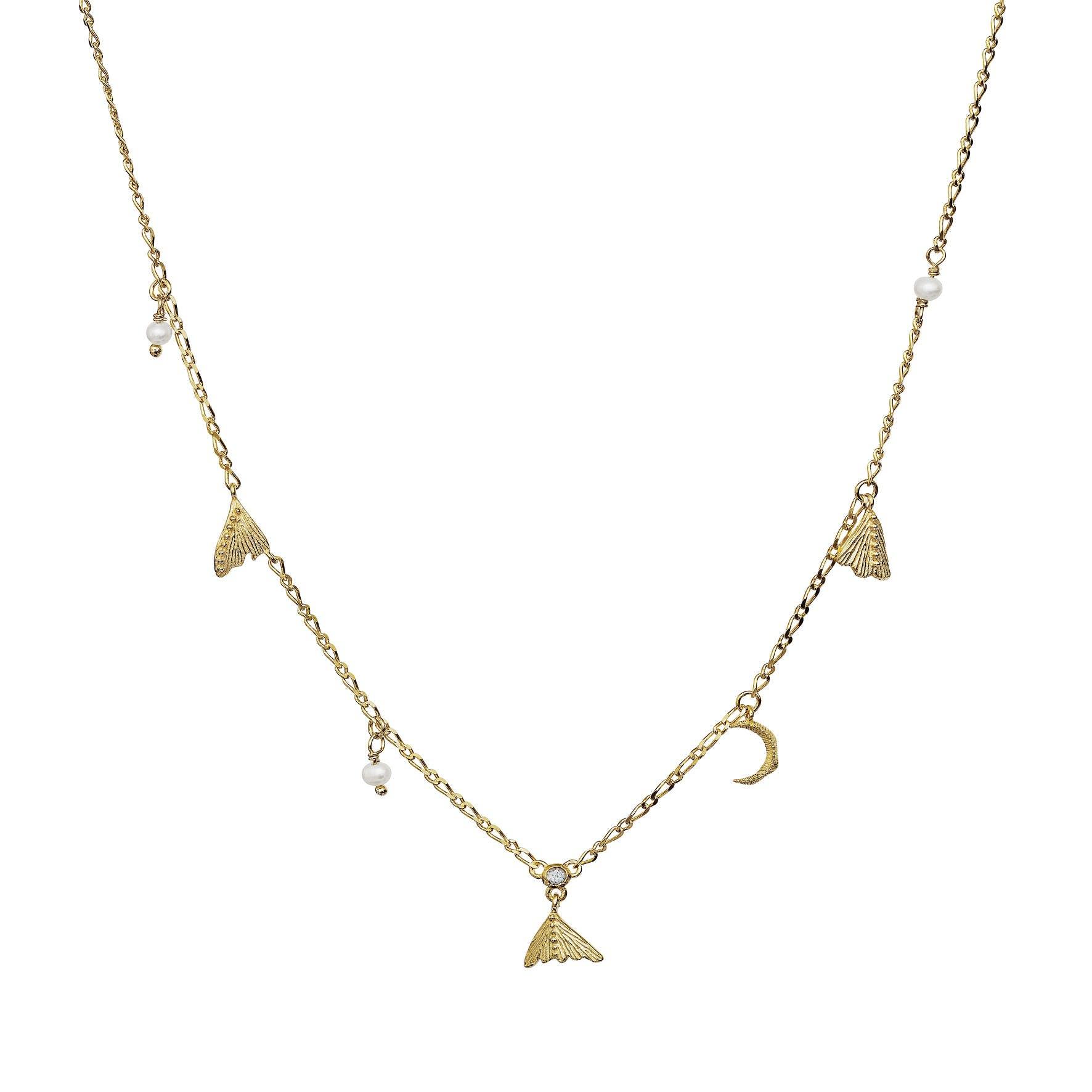 Nocha Necklace von Maanesten in Vergoldet-Silber Sterling 925