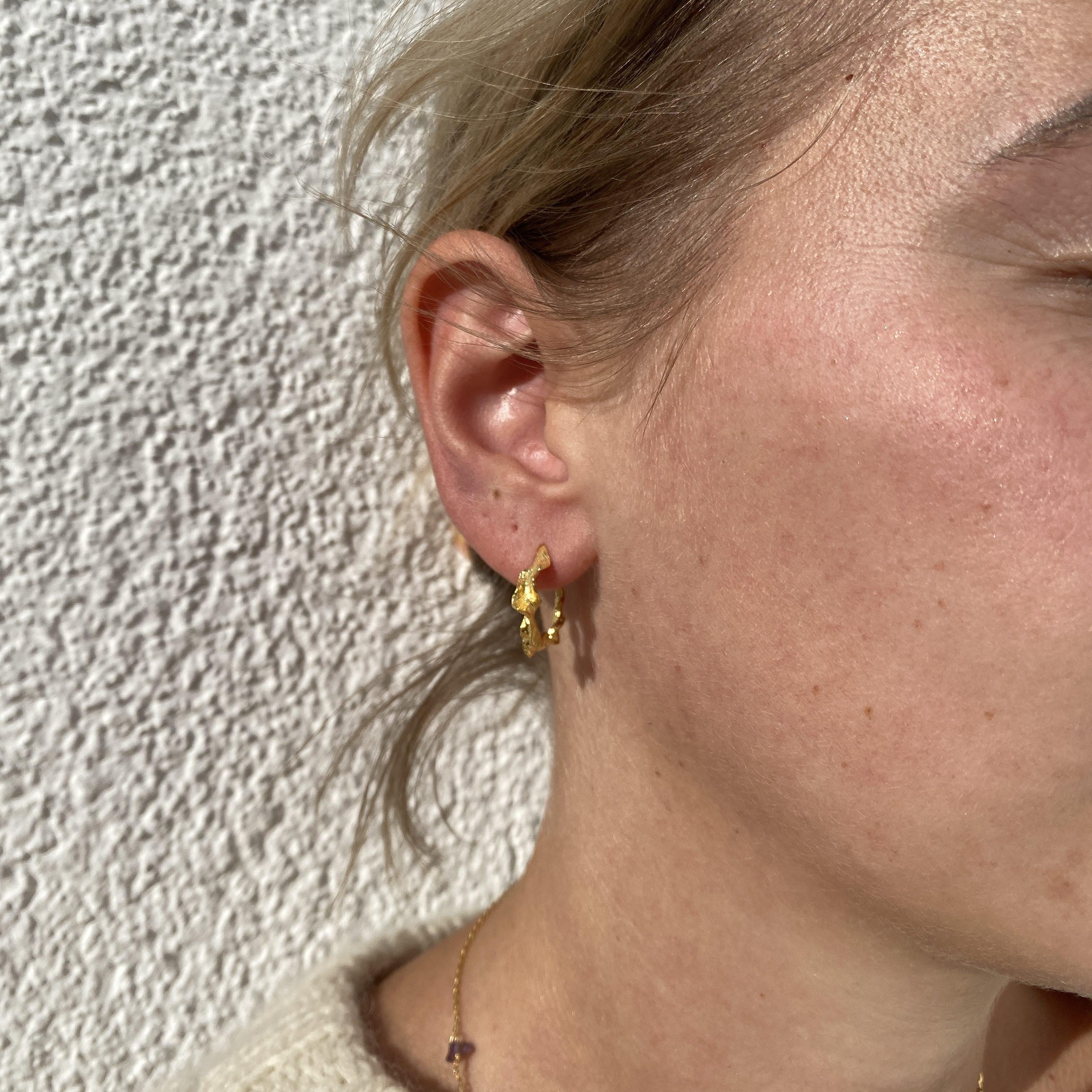 Nino Earrings from Maanesten in Silver Sterling 925