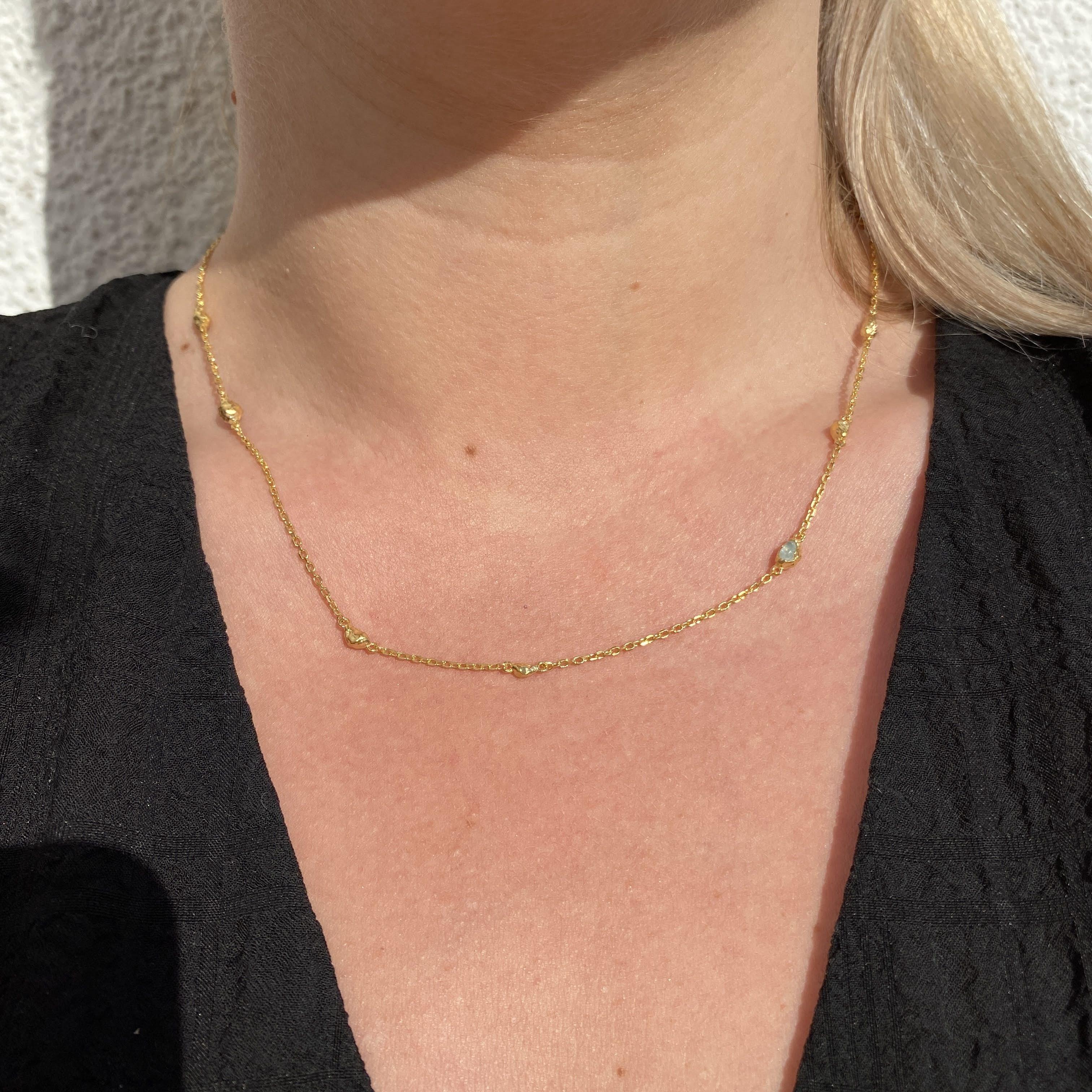 Zadie Necklace von Maanesten in Vergoldet-Silber Sterling 925