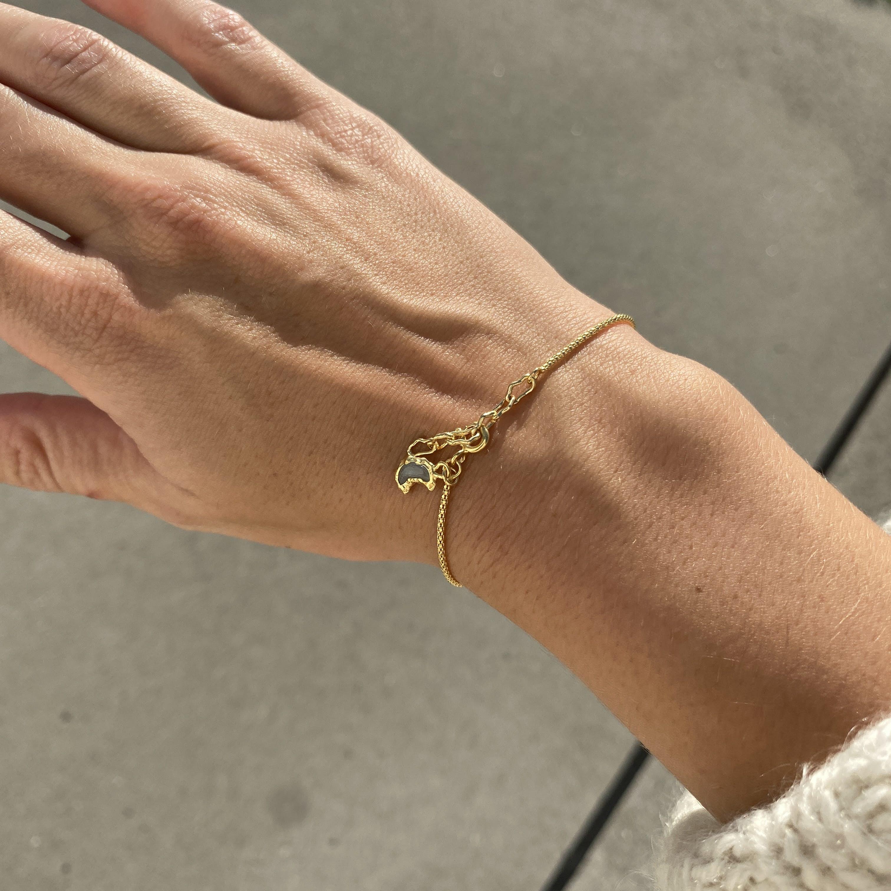 Marceline Bracelet fra Maanesten i Forgyldt-Sølv Sterling 925
