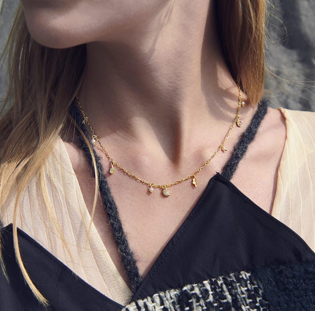 Salome Necklace von Maanesten in Vergoldet-Silber Sterling 925