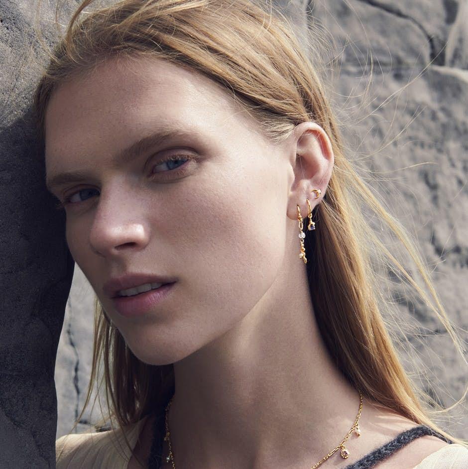 Luziana Earrings fra Maanesten i Forgylt-Sølv Sterling 925