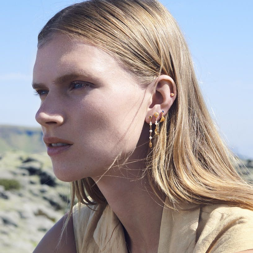 Lenora Earrings von Maanesten in Vergoldet-Silber Sterling 925