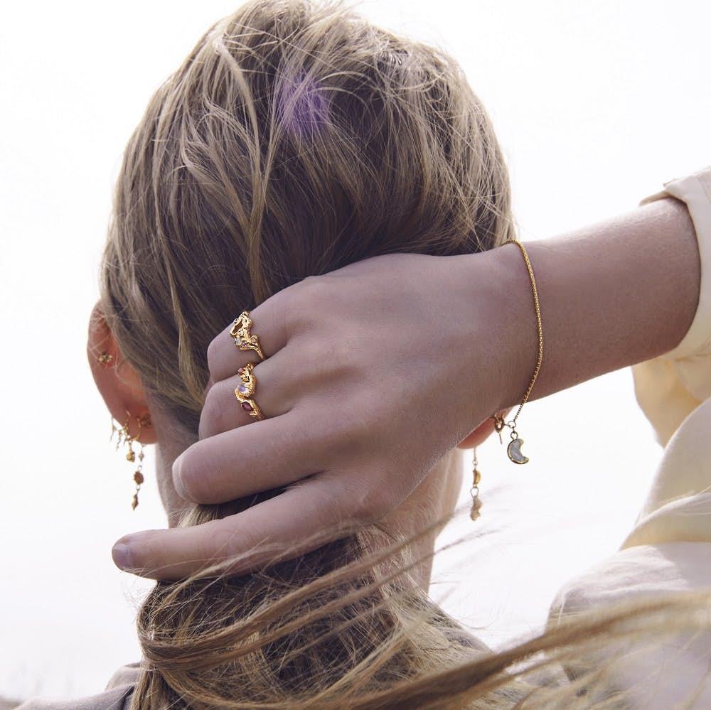 Elinor Ring von Maanesten in Vergoldet-Silber Sterling 925