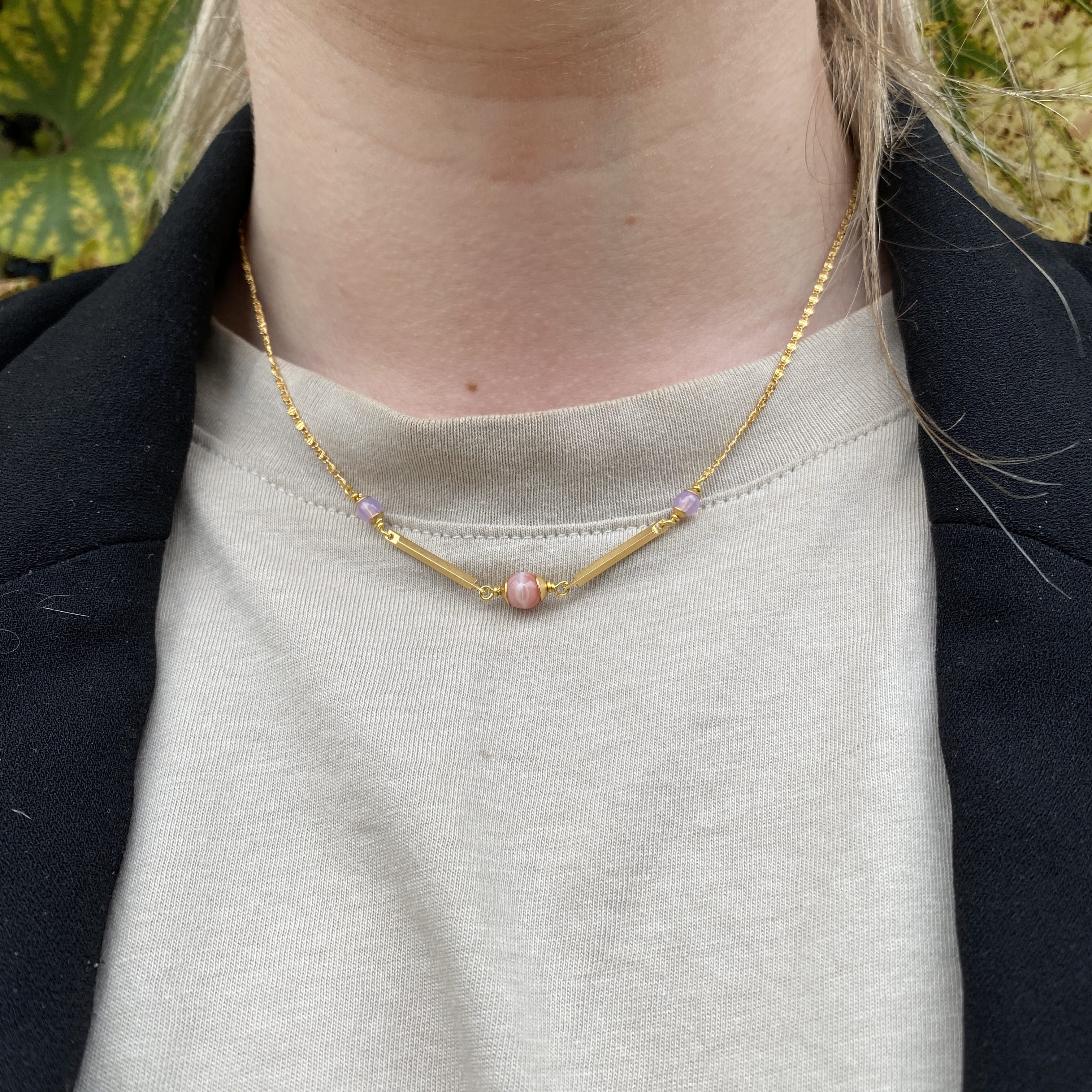Polly Necklace von Pico in Vergoldetes Messing