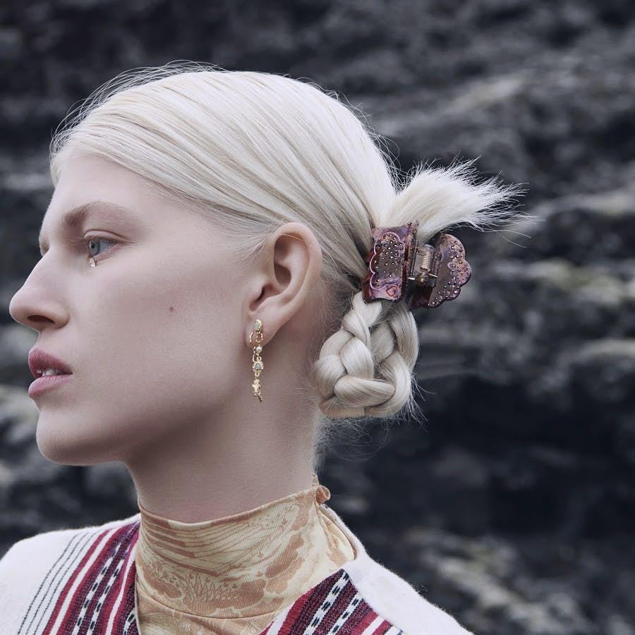 Light Hairclaw Aubergine