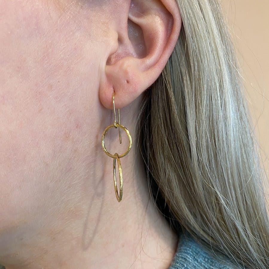 Double Plain Hook von Pernille Corydon in Vergoldet-Silber Sterling 925