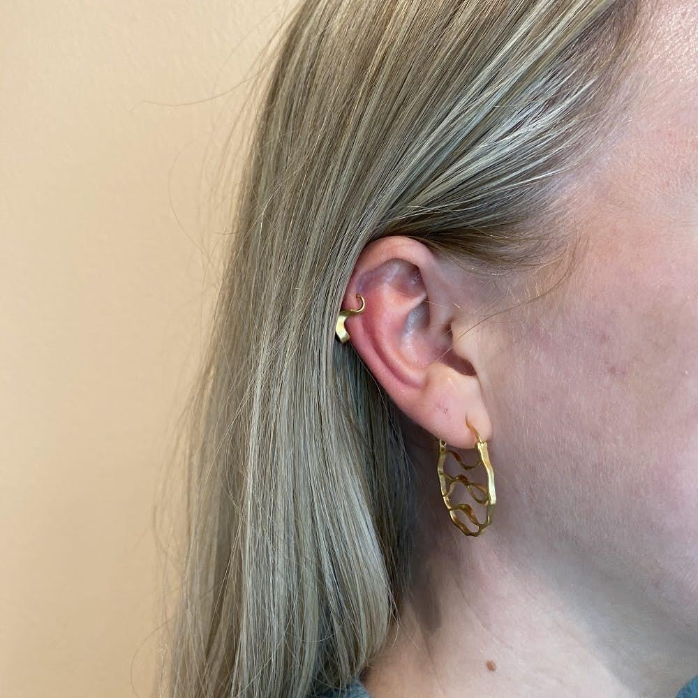 Wave Earrings von Pernille Corydon in Silber Sterling 925